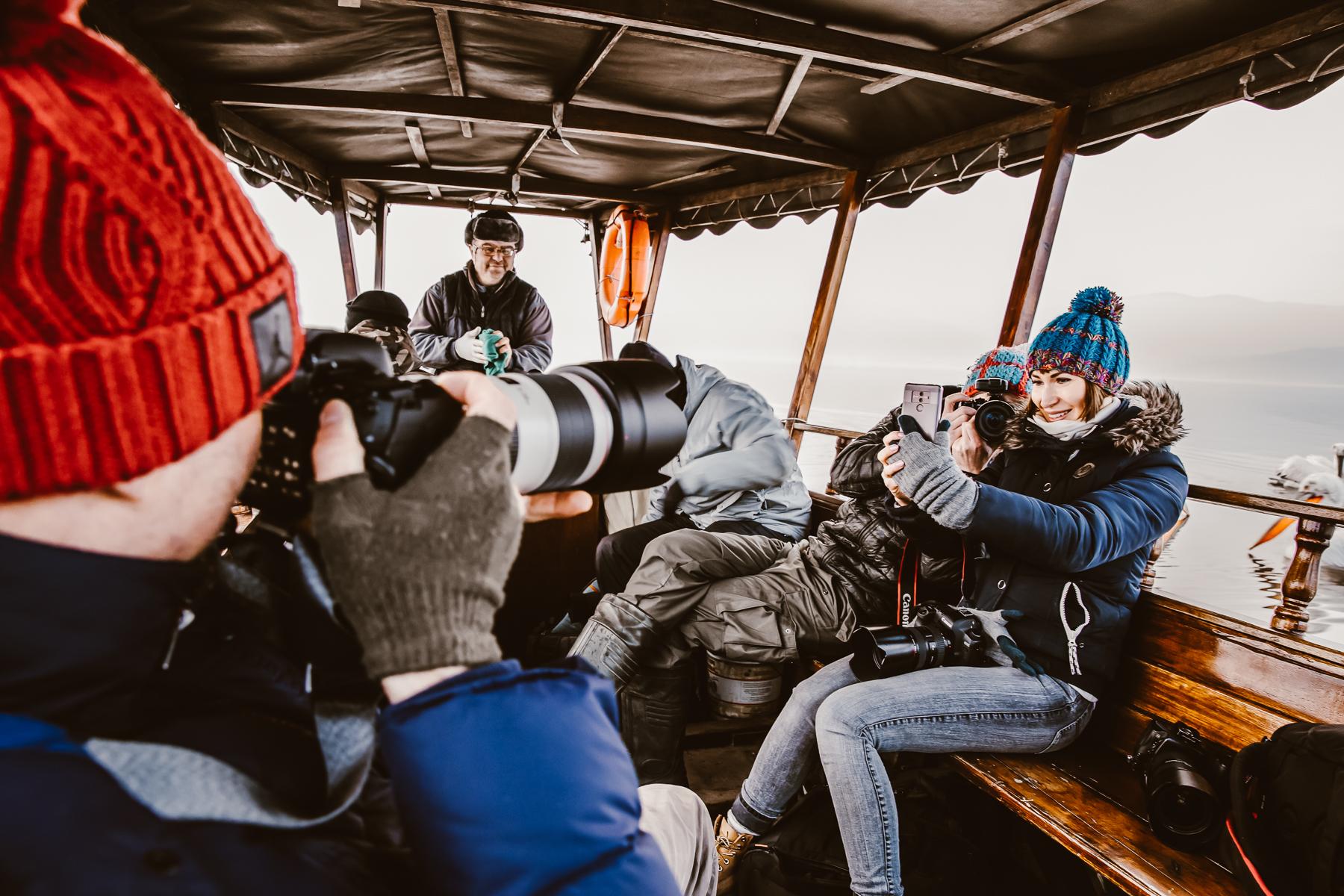 Fotowyprawa Pelikany Kerkini - łódź